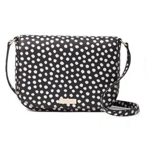 NWT Kate Spade Black White Polka Dot Crossbody Bag
